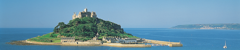 Agency for Cornwall bed & breakfast  looking at St. Michaels Mount near Penzance in Cornwall